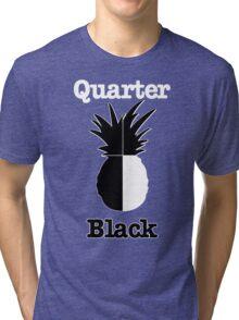 Quarter Black Tri-blend T-Shirt