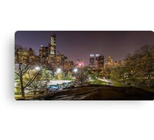 Central Park at Night - New York, USA Canvas Print