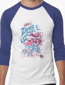 Zombie Unicorn Attacks Men's Baseball ¾ T-Shirt