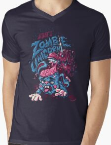 Zombie Unicorn Attacks Mens V-Neck T-Shirt