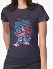 Zombie Unicorn Attacks Womens Fitted T-Shirt