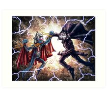 Super Grover vs. The Count Art Print