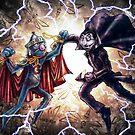 Super Grover vs. The Count by Jose Gomez