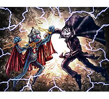 Super Grover vs. The Count Photographic Print