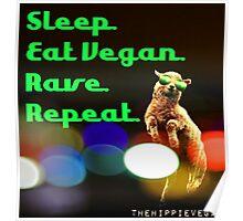 Vegan rave Poster