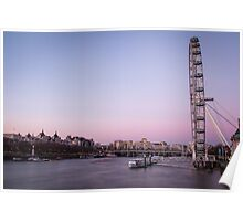 London Eye at Sunset - London, UK Poster
