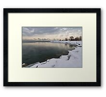 Translucent Winter - Small Cove Snowy Morning Framed Print