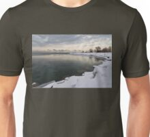 Translucent Winter - Small Cove Snowy Morning Unisex T-Shirt