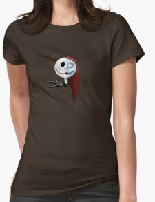 Nightmare Before Christmas Jack and Sally Womens Fitted T-Shirt