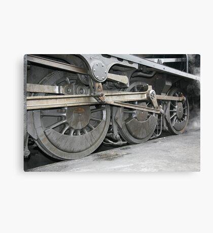 steam train wheels Canvas Print