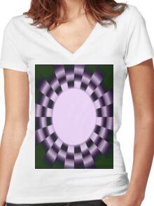 VERTIGO Women's Fitted V-Neck T-Shirt