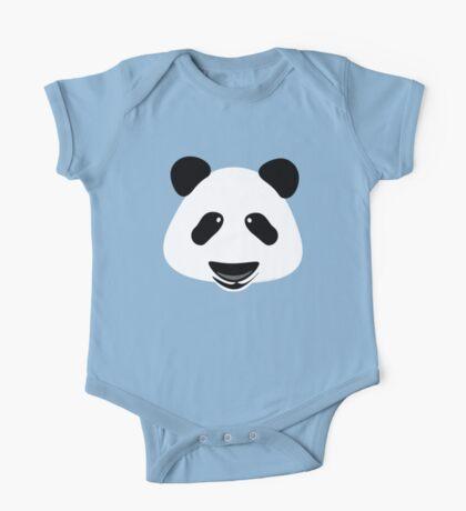 Panda Bear Modern One Piece - Short Sleeve