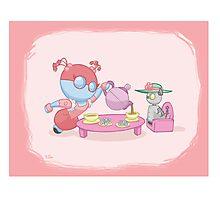 Little Robot: Tea Party Photographic Print