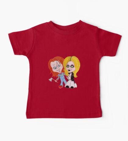 Horror Movie Dolls Caricature Baby Tee
