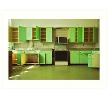 The Green Kitchen Art Print