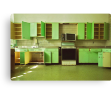 The Green Kitchen Canvas Print