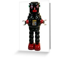 Mechanical Robby Toy Greeting Card