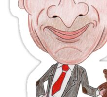 Funny Drawing Caricature TV Sticker