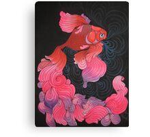 Pink Oranda  Canvas Print