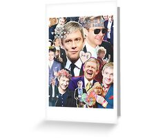 martin freeman collage Greeting Card