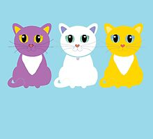 Only Three Cats by Jean Gregory  Evans