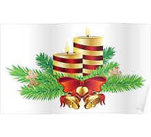 Decorative Christmas Candle Poster