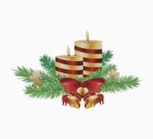 Decorative Christmas Candle One Piece - Long Sleeve