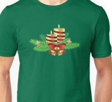 Decorative Christmas Candle Unisex T-Shirt