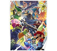 Smash 4 Lucina and Robin Reveal Illustration Poster