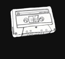 Hand Drawn Cassette Tape Analog Retro Old School  by Framerkat