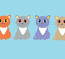 Only Four Cats by Jean Gregory  Evans