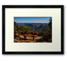 Sit and enjoy Framed Print