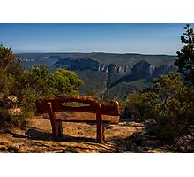 Sit and enjoy Photographic Print