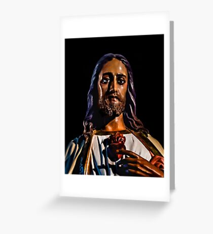 Jesus Christ Sculpture Photo Greeting Card