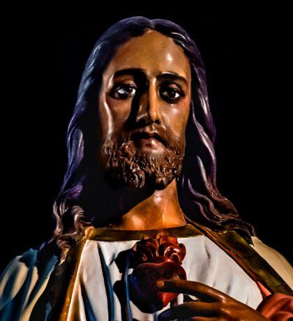 Jesus Christ Sculpture Photo Sticker