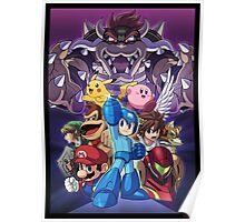 Smash 4 Mega Man Reveal Illustration Poster