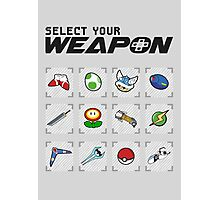 Select Your Weapon Photographic Print