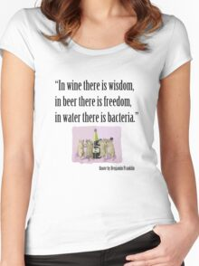 In Wine There Is Wisdom Women's Fitted Scoop T-Shirt