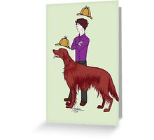 Young Sherlock & Redbeard, Consulting Detectives Greeting Card