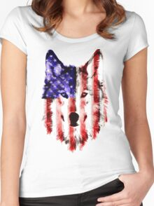 wolf USA Women's Fitted Scoop T-Shirt