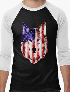 wolf USA Men's Baseball ¾ T-Shirt