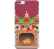 Decorated Christmas Fireplace iPhone Case/Skin
