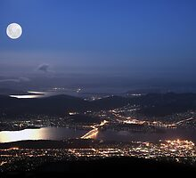 Hobart City Lights  by Robert-Todd