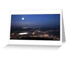 Hobart City Lights  Greeting Card