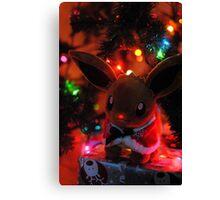 Eevee the Red Nose Pokemon Canvas Print