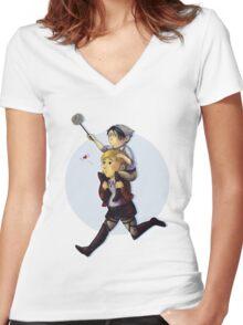 Domestic EruRi Women's Fitted V-Neck T-Shirt