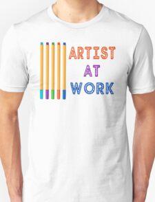 Artist At Work Oil Pastels T-Shirt