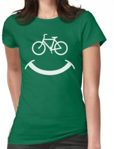 Bicycle Smile T-Shirt Womens Fitted T-Shirt