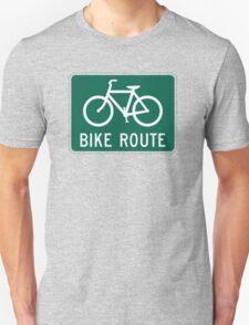 Bike Route Sign T-Shirt Unisex T-Shirt