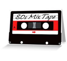 80s Music Mix Tape Cassette Greeting Card